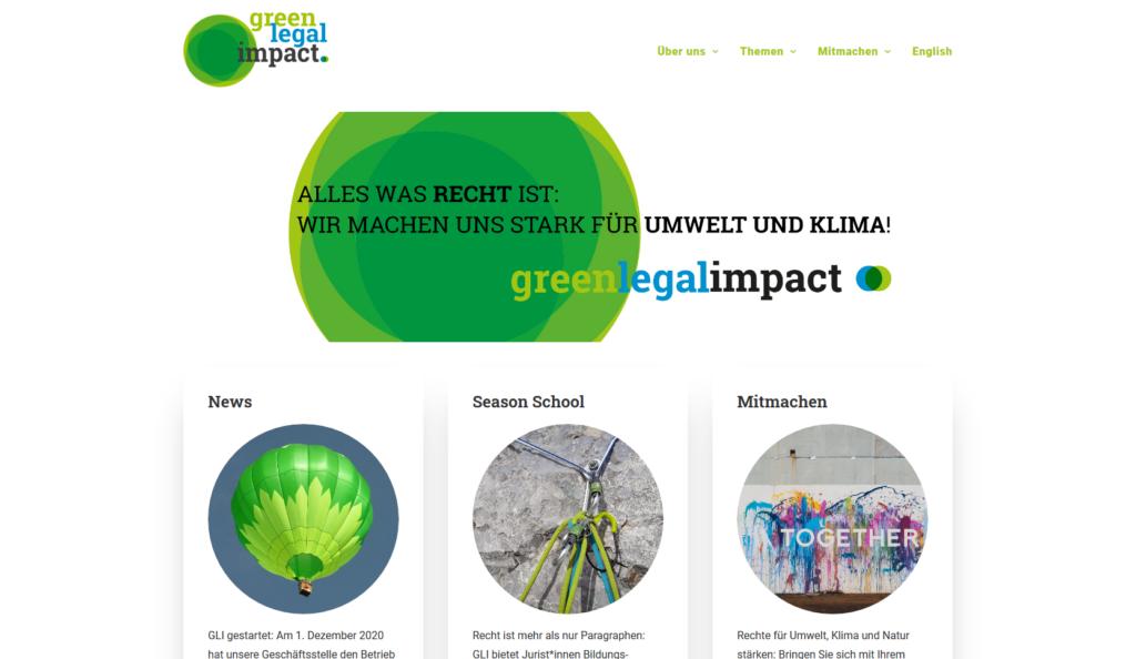 Startseite Green Legal Impact